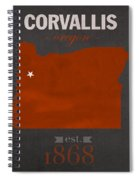Oregon State University Beavers Corvallis College Town State Map Poster Series No 087 Spiral Notebook