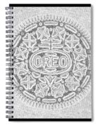 Oreo In Grey Spiral Notebook