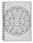Oreo In Grey2 Spiral Notebook