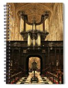 Organ And Choir - King's College Chapel Spiral Notebook