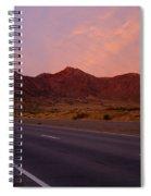 Organ Mountain Sunrise Highway Spiral Notebook