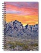 Organ Mountain Sunrise Most Viewed  Spiral Notebook