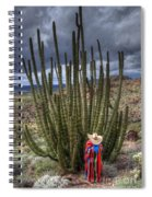 Organ Pipe Cactus The Visitor 1 Spiral Notebook