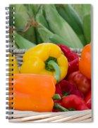 Organic Sweet Bell Peppers Spiral Notebook