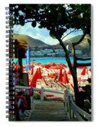 Orient Beach Peek Spiral Notebook
