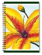 Oriental Daylily Trio Spiral Notebook