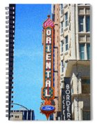 Oriental Theater With Sponge Painting Effect Spiral Notebook