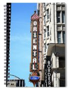 Oriental Theater With Watercolor Effect Spiral Notebook