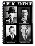 Original Gangsters - Public Enemies Spiral Notebook