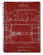Original Harleigh Holmes Automobile Patent 1932 Spiral Notebook