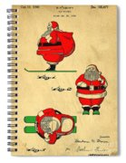Original Patent For Santa On Skis Figure Spiral Notebook