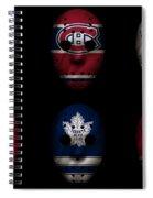 Original Six Jersey Mask Spiral Notebook