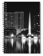 Orlando Black And White Night Spiral Notebook