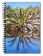 Ormond Scenic Loop Florida Palm Tree Painted  Spiral Notebook