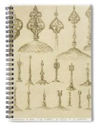 Ornamental Knobs Shaped As Domes Spiral Notebook
