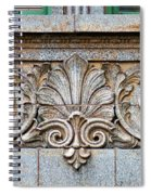 Ornamental Scrollwork Panel - Architectural Detail Spiral Notebook