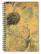 Ornamental Thistle Flower Spiral Notebook