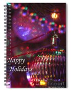 Ornaments-2054-happyholidays Spiral Notebook