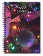 Ornaments-2143-happyholidays Spiral Notebook