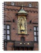 Ornate Building Artwork In Copenhagen Spiral Notebook