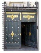 Ornate Door On Champs Elysees In Paris France Spiral Notebook