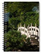 Ornate White Stone Bridge  Spiral Notebook