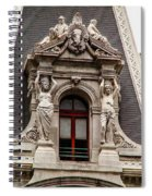 Ornate Window Of City Hall Philadelphia Spiral Notebook