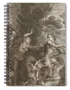 Orpheus, Leading Eurydice Out Of Hell Spiral Notebook