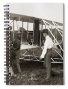 Orville Wright And Aeroplane  1908 Spiral Notebook
