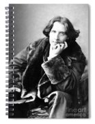 Oscar Wilde In His Favourite Coat 1882 Spiral Notebook