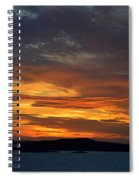 Oslo Fjord At Sunset Spiral Notebook