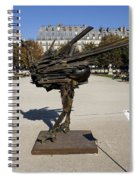 Ostrich Art At The Jardin Des Tuileries In Paris France Spiral Notebook