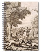 Otter Hunting By A River, Engraved Spiral Notebook