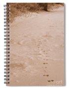 Otter Tracks In Fresh Snow Spiral Notebook