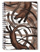 Otter With Eel, 2013 Woodcut Spiral Notebook