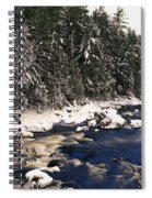 Ouareau River And Snow Covered Spiral Notebook