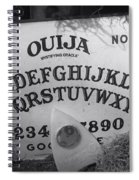 Ouija Board Queen Mary Ocean Liner Bw Spiral Notebook