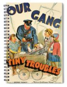 Our Gang Vintage Movie Poster 1930s Spiral Notebook