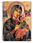 Our Lady Of Perpetual Help Icon Spiral Notebook