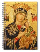 Our Lady Of Perpetual Help  Spiral Notebook