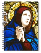 Our Lady Of Sorrows In Stained Glass Spiral Notebook
