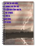 Our Love For Country Spiral Notebook