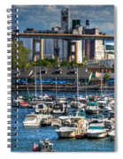 Out At The Harbor V3 Spiral Notebook