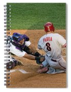 Out At The Plate Spiral Notebook