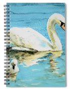 Out For A Morning Swim Spiral Notebook