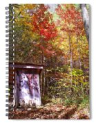 Out House In The Fall Spiral Notebook