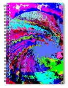 Out Of The Blue Wave Abstract Spiral Notebook