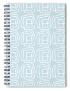 Out Of The Box Blue And White Pattern Spiral Notebook