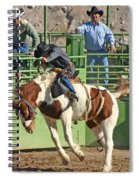 Out Of The Chute Spiral Notebook