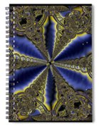 Out Of The Negative Into The Blue Flower Spiral Notebook